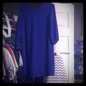 Blue Dress w bow back